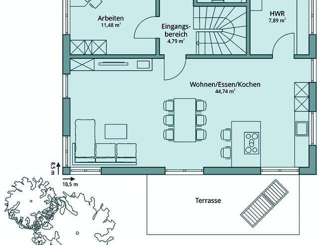 Haus 103 von TALBAU-Haus Grundriss 1
