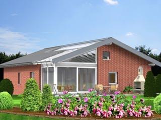 Planungsbeispiel 106H10 von Bio-Solar-Haus Außenansicht 1
