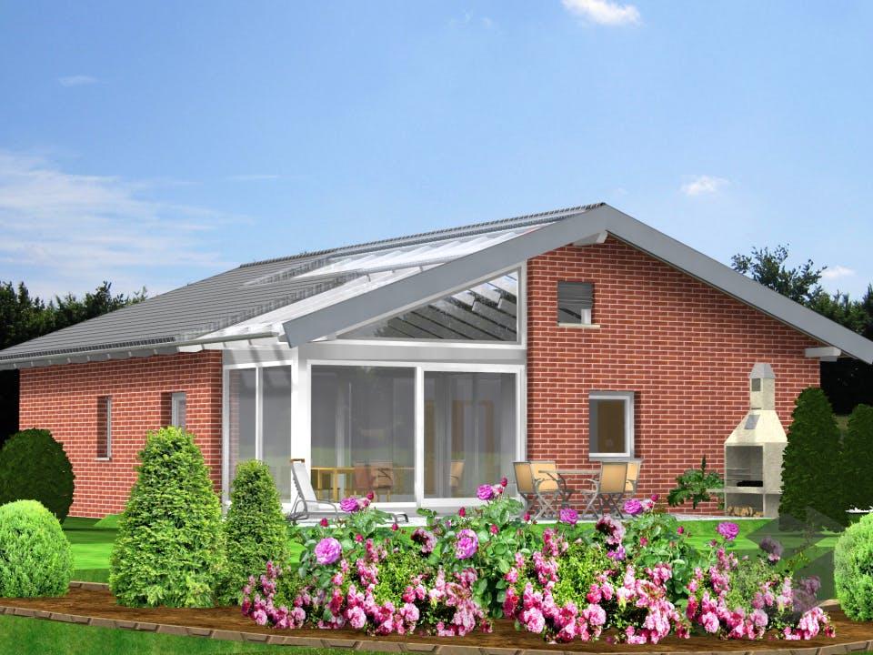 Planungsbeispiel 106H10 von Bio-Solar-Haus Außenansicht