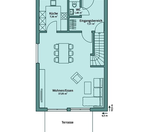 Talbau Haus 107 Floorplan 1