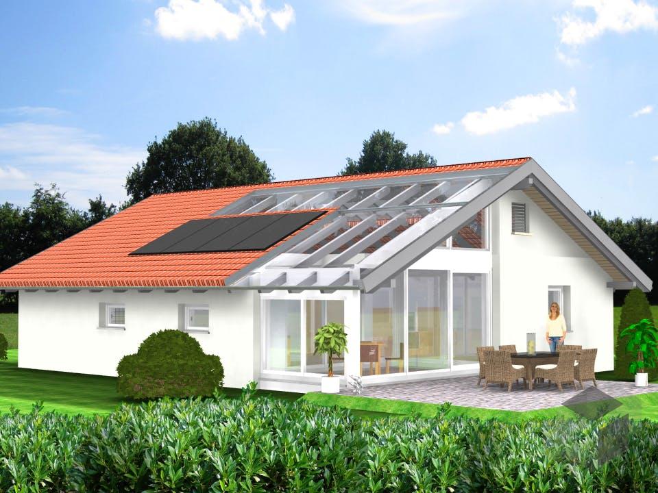 Planungsbeispiel 108H10 von Bio-Solar-Haus Außenansicht