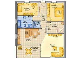 Planungsbeispiel 108H10 Grundriss