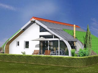 Planungsbeispiel 108SB10 von Bio-Solar-Haus Außenansicht 1
