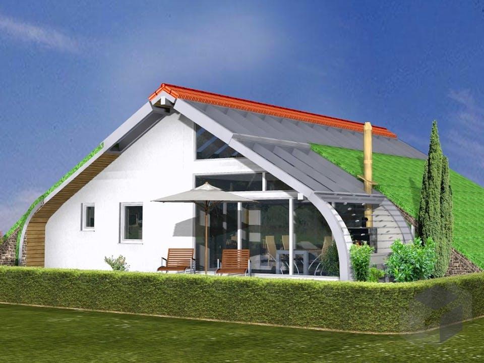 Planungsbeispiel 108SB10 von Bio-Solar-Haus Außenansicht