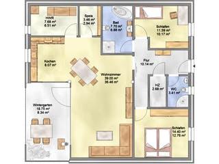 Planungsbeispiel 108SB10 von Bio-Solar-Haus Grundriss 1