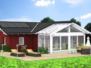 Planungsbeispiel 114H10 von Bio-Solar-Haus Außenansicht 1