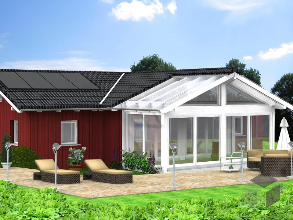 Planungsbeispiel 114H10 von Bio-Solar-Haus Außenansicht