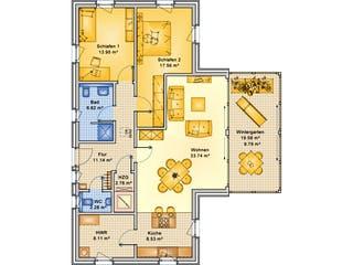 Planungsbeispiel 114H10 von Bio-Solar-Haus Grundriss 1