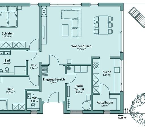 Talbau Haus 116 Floorplan 1