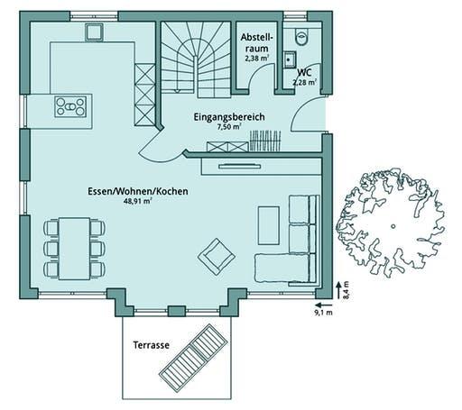 Talbau Haus 117 Floorplan 1