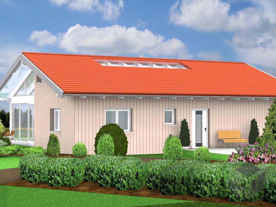 Planungsbeispiel 119H10 von Bio-Solar-Haus Außenansicht