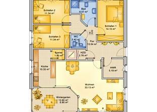 Planungsbeispiel 119H10 Grundriss