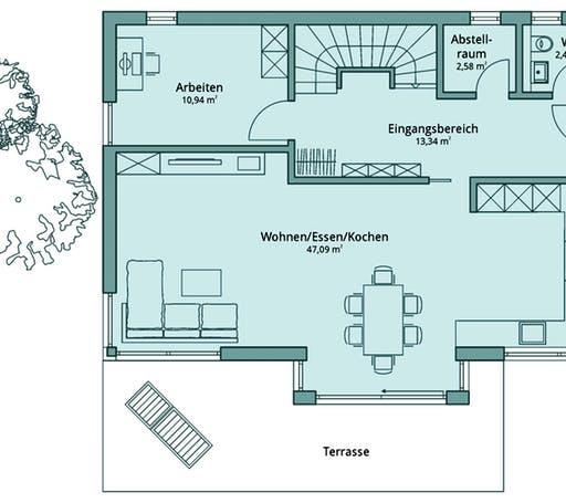 Talbau Haus 120 Floorplan 1