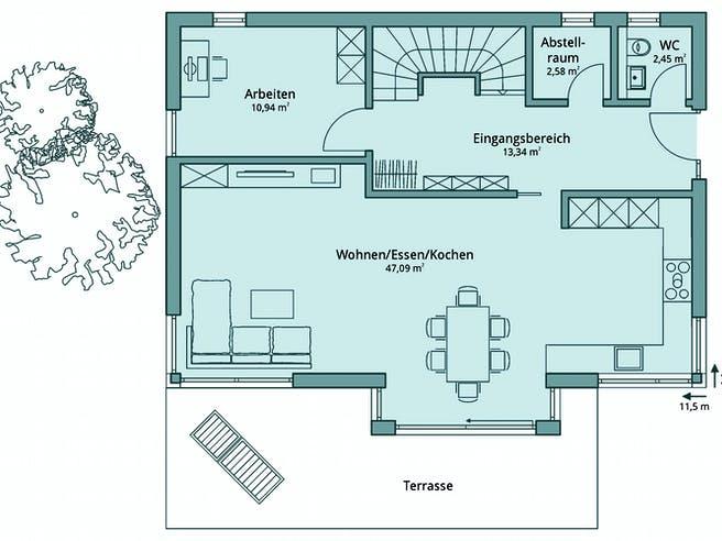 Haus 120 von TALBAU-Haus Grundriss 1
