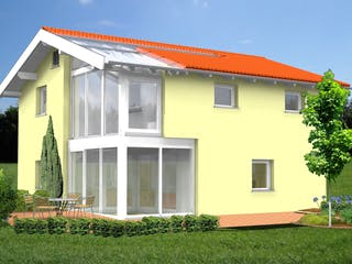Planungsbeispiel 120H20 von Bio-Solar-Haus Außenansicht 1