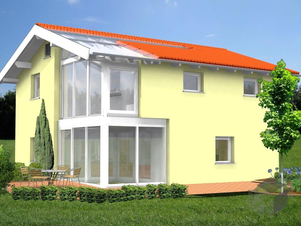 Planungsbeispiel 120H20 von Bio-Solar-Haus Außenansicht