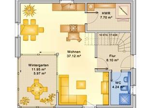 Planungsbeispiel 120H20 Grundriss