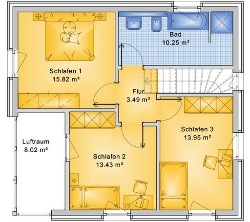 Bio-Solar-Haus - Planungsbeispiel 120H20 Floorplan 2