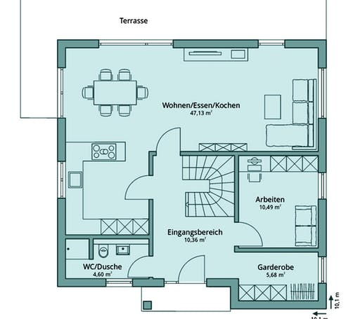 Talbau Haus 125 Floorplan 1