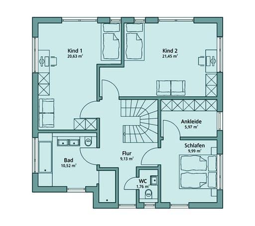 Talbau Haus 125 Floorplan 2