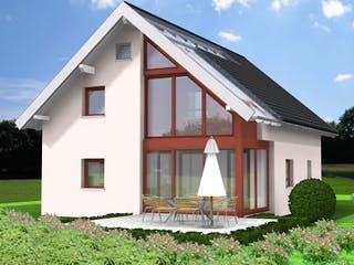 Planungsbeispiel 125H15 von Bio-Solar-Haus Außenansicht 1