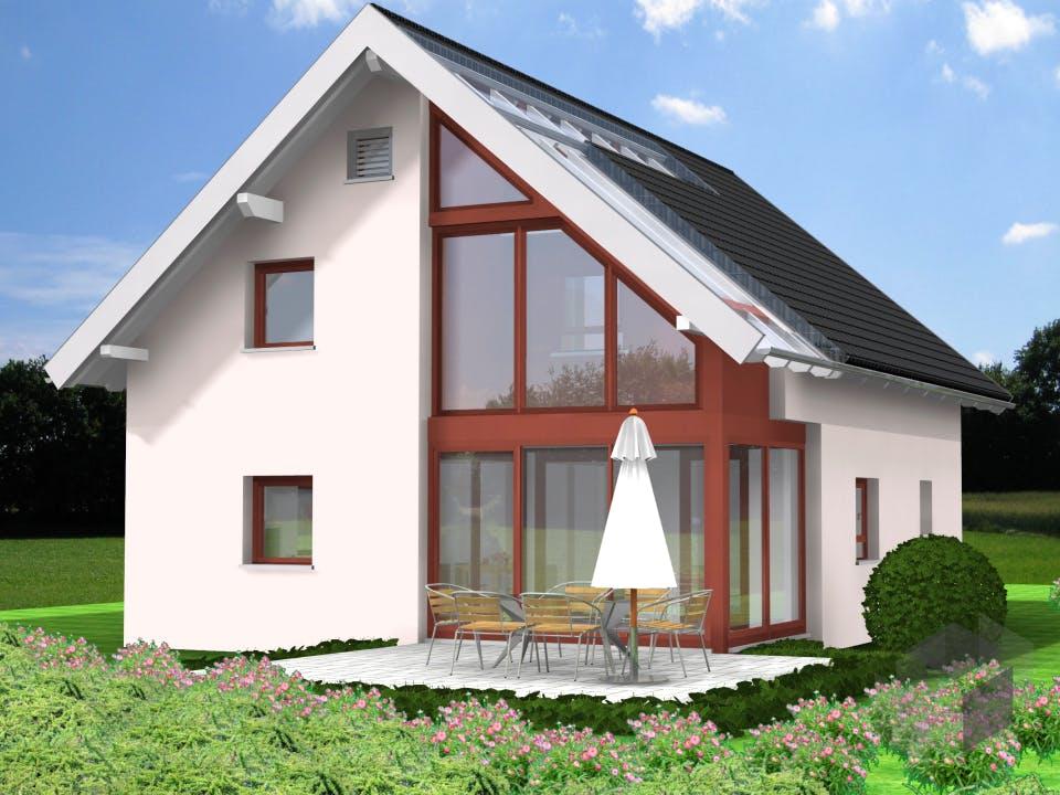 Planungsbeispiel 125H15 von Bio-Solar-Haus Außenansicht
