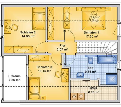 Bio-Solar-Haus - Planungsbeispiel 125H15 Floorplan 2