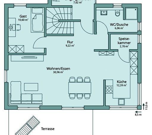 Talbau Haus 128 Floorplan 1