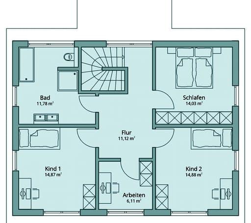 Talbau Haus 128 Floorplan 2