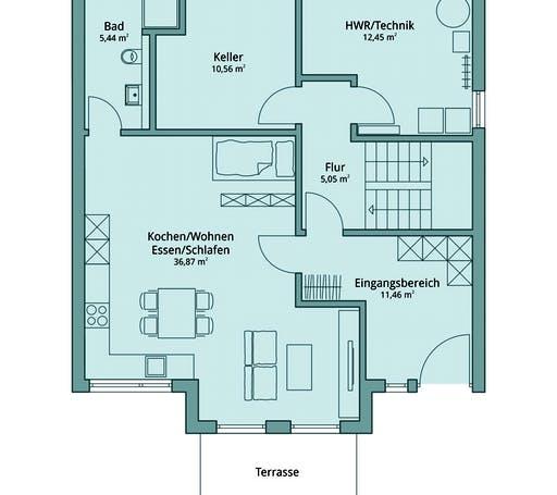 Talbau Haus 129 Floorplan 1