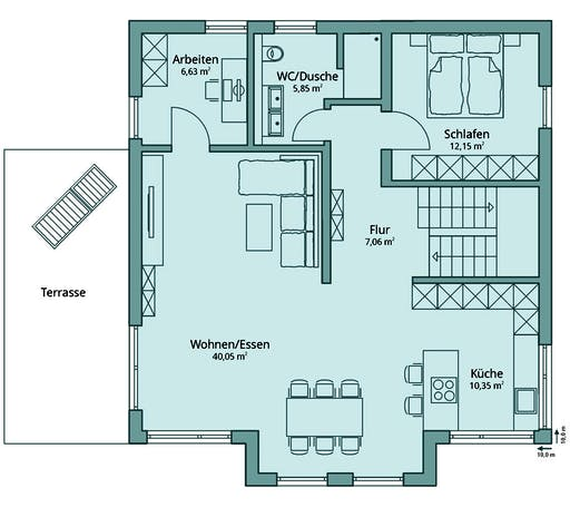 Talbau Haus 129 Floorplan 2