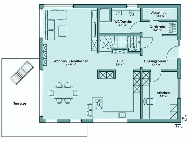 Haus 131 von TALBAU-Haus Grundriss 1