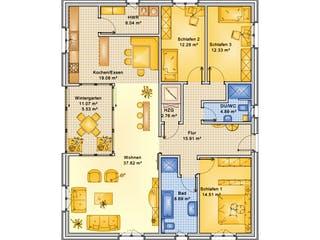 Planungsbeispiel 132H10 von Bio-Solar-Haus Grundriss 1