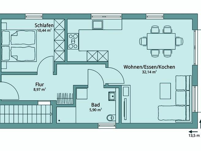 Haus 134 von TALBAU-Haus Grundriss 1
