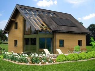 Planungsbeispiel 139H15 von Bio-Solar-Haus Außenansicht 1