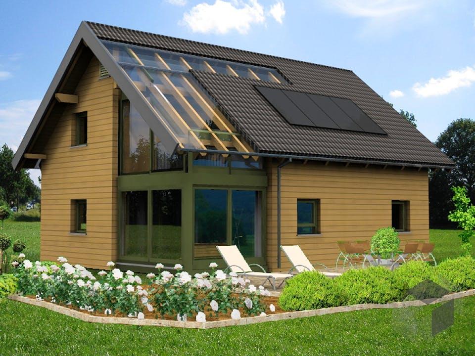 Planungsbeispiel 139H15 von Bio-Solar-Haus Außenansicht