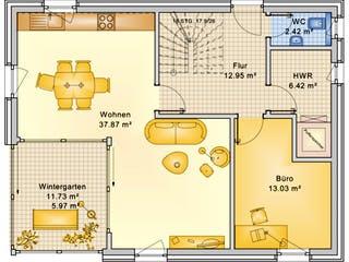 Planungsbeispiel 139H15 von Bio-Solar-Haus Grundriss 1
