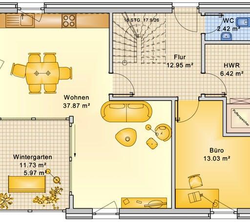 Bio-Solar-Haus - Planungsbeispiel 139H15 Floorplan 1