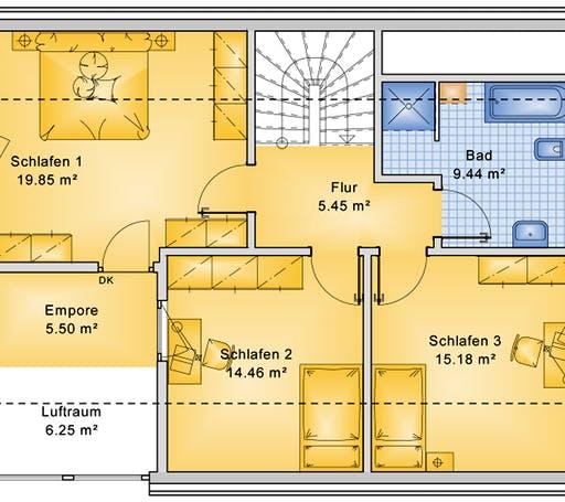 Bio-Solar-Haus - Planungsbeispiel 139H15 Floorplan 2