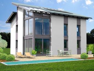 Planungsbeispiel 139H20 von Bio-Solar-Haus Außenansicht 1