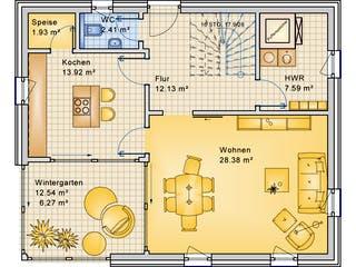 Planungsbeispiel 139H20 von Bio-Solar-Haus Grundriss 1