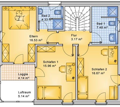 Bio-Solar-Haus - Planungsbeispiel 139H20 Floorplan 2