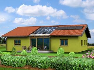 Planungsbeispiel 140H10 von Bio-Solar-Haus Außenansicht 1