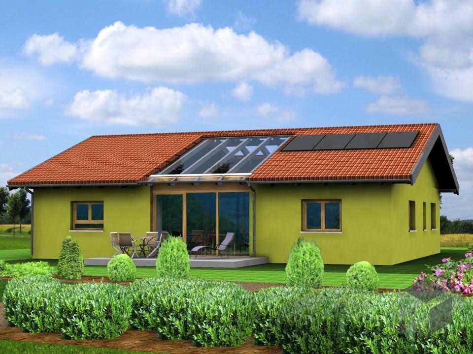 Planungsbeispiel 140H10 von Bio-Solar-Haus Außenansicht
