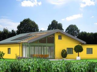 Planungsbeispiel 145H10 von Bio-Solar-Haus Außenansicht 1