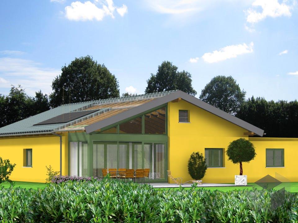 Planungsbeispiel 145H10 von Bio-Solar-Haus Außenansicht