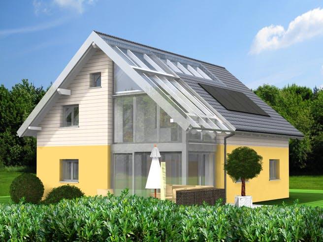 Planungsbeispiel 151H15 von Bio-Solar-Haus Außenansicht 1