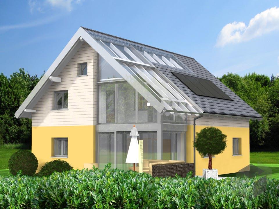 Planungsbeispiel 151H15 von Bio-Solar-Haus Außenansicht