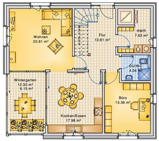 Bio-Solar-Haus - Planungsbeispiel 151H15 Floorplan 1