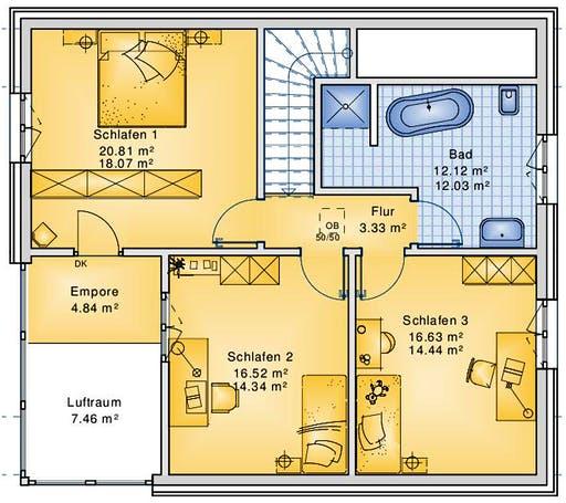 Bio-Solar-Haus - Planungsbeispiel 151H15 Floorplan 2